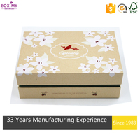 Competitive Price Promotion Yellow Rectangle Korean Gift Box