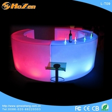 Supply all kinds of bar and pub LED table,white round dining LED table