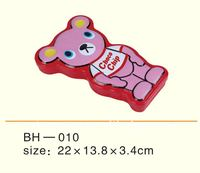 (Factory Direct Sale) Embossed and Fancy Shaped Tin Kids Metal Pencil Case
