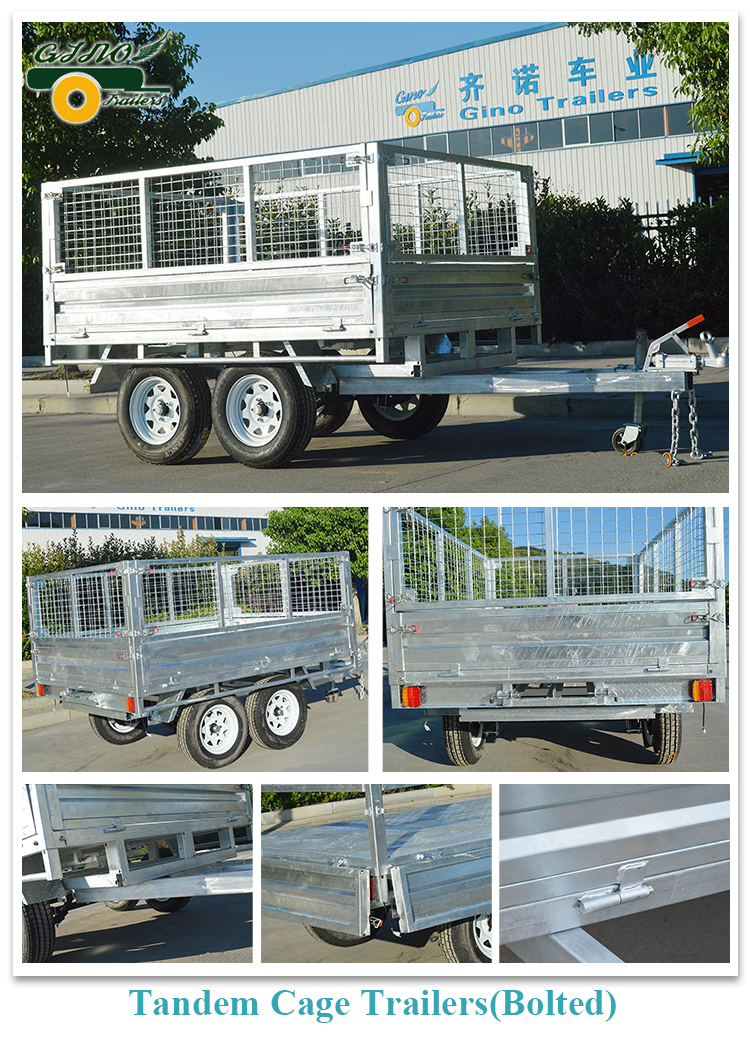 Tandem trailers-bolted