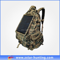 65L cooler Como solar laptop charger bag with 20V 5.5W solar panel for hunting