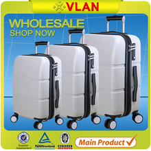 2015 high quality hot sale New stylish Factory 8 Wheels PC Trolley Luggage Case