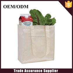 Hot selling cheap plain white cotton canvas tote bag