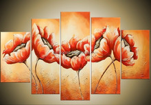 Wall art decor,Manufactor brand hand-painted canvas flower oil painting