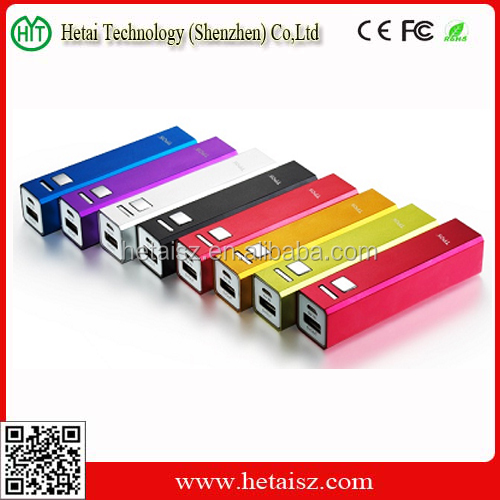 Hot Selling 2600mah Portable Mobile Power Bank for Cell Phone