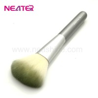 long plastic handle gentle tapered cosmetic powder brush makeup brush
