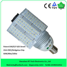 e27 dc 12v dc 24v 80w led road light with meanwell driver E40 LED street light