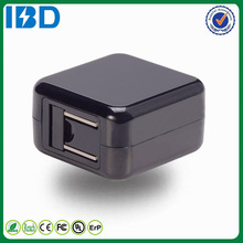 For iphone 5s, IBD universal travel charger 5v/2.4a plug square charger for mobile phone