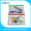 Shool&Office transparent file bag with colorful zipper