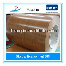 Grate quality wood grain design ppgi steel sheet in coils not made in shandon with low price widely used in roof and wall panel