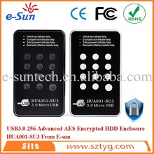 2.5'' SATA HDD External Enclosure, Password Encrypted Case For Protecting Hard Drive Data