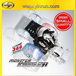 4016 monster spinning remote control car in stock small quantity order accepable