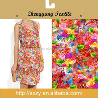 Cotton cheap custom printed women dress fabric/floral dress fabric/dresses fabric