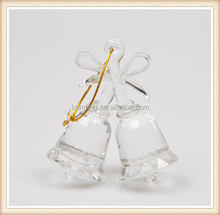 Hot Sale Crystal Small Bell For Christmas Decorations