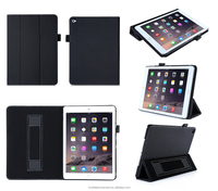 Alibaba Manufacturer Book Style With Hand Holder Tablet Case For Ipad Air 2
