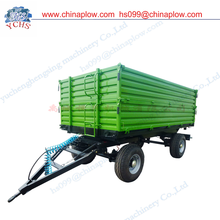 Farm tractor trailer double axle three side tipping sale europe