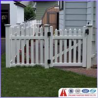 vinyl plastic fence gate