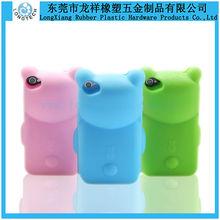 Custom bear shape silicone phone case,cheap custom silicone mobile phone case