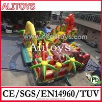 giant jungle design giraffe inflatable bouncer amusement park with CE/UL air blower