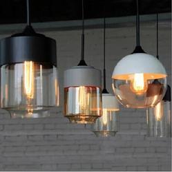 IKEA Nordic American retro modern loft glass chandelier lighting bar restaurant lights creative personality living room