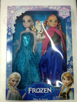 Frozen doll ,new style .frozen elsa & anna &olaf ,elsa and anna with musice let it go