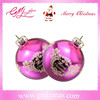 2015 Chinese festive supplier supply mouth blown gorgeous glass Christmas ball with paillette or Christmas tree decoration.