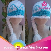 Wholesale Lovebaby handmade crochet sweet child hats with braids