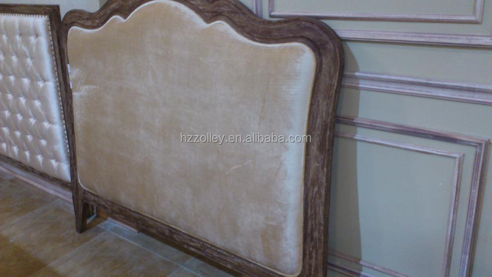 2015 venta caliente dormitorio tapizados cabecero de terciopelo de ...