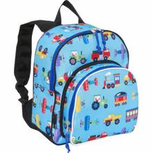 Cheap high school backpack trains planes trucks kids school backpack