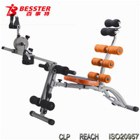 BEST JS-060SB SIX PACK CARE with mini exercise bike indoor ab fitness complete home gym fitness equipment
