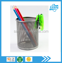 2015 Best Sale Office Accessories Metal Mesh Pen Holder/Pen Stands/Pen Cup