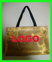 2015 Eco- Friendly Portable Metallic Color Shopping Bag polyester/nylon mesh shopping bags wholesale