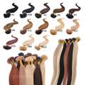 Extensiones del pelo ondulado de U/pelo Malaysiano/pelo Brazilieño/pelo peruano/pelo Camboya/100% pelo humano /extención de pelo