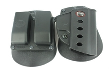 Police Military Matte Finish M9 Belt Holster With Magazine pouch