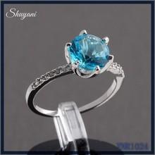 T rkische luxus platin schmuck unisex engagement see blau - Verlobungsring blau ...