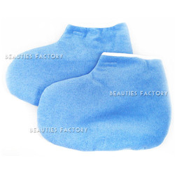 Beauties Factory Paraffin Wax Protection Leg Foot Gloves (Blue)