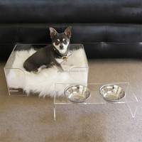 acrylic clear small luxury dog bed for puppy