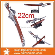 Ornamental metal mini sword with shelf small metal craft