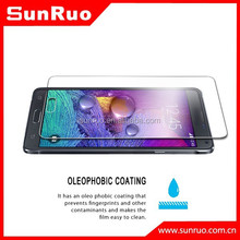 Transparent glass screen protector for samsung galaxy note 4,for screen protecotor note 4,for tempered glass samsung note 4