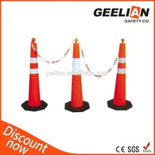 Good Quallity White And Orange Road Safety Fence Barrier