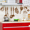 Removable wall decal happy kitchen Wall Stickers for kitchen Room ( ZY6017 )