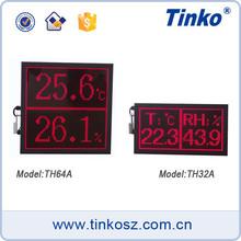 Digital Dot Matrix LED Temperature Humidity Monitor/Display with Calendar For Medicine Factory TH64A