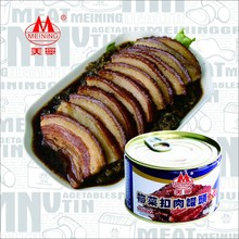 397g canned Pork(sliced)with preserved vegetable food