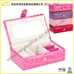 2015 woman`s decorative jewelry case for travel