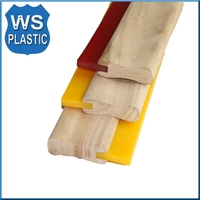silkscreen squeegee rubber blade and handle