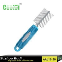 New design pet grooming products stainless steel pet lice 2 sides pet comb