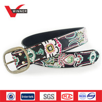 Embroidery Female Print Genuine Leather Belt