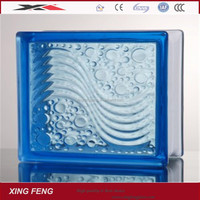 high quality color buliding glass block for outdoor decoration 145mm *145mm*95mm