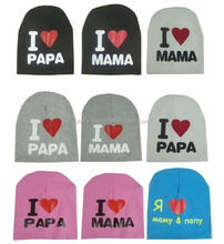 JPHAT150313 2015 Newest Cute i love mama i love papa baby hat