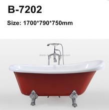 DOMO acrylic clawfoot child size bath tub